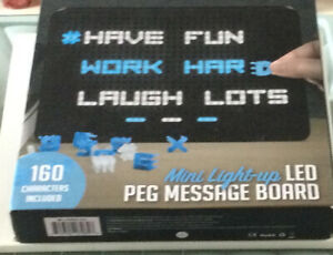 Mini Light Up Led Peg Message Board Christmas Birthday Office Gift