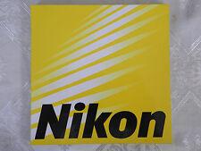 Nikon Nikkor Sticker Logo Original Official Label Camera Lens Sales Promotion.