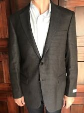Hart Schaffner Marx Mens Size 42R Sportcoat in Dark Brown Plaid New $495