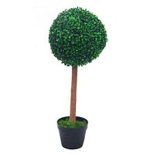 Boj Buxus Planta Artificial Decoración Interiorismo Madera Natural 57cm DECOVEGO