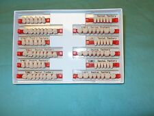 3 complete sets of acrylic denture teeth size small medium and large per box