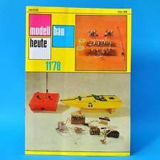 Modellbau heute 11/1978 GST DDR Flugmodellbau Schiffsmodellbau   Segelflugmodell