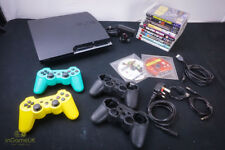 Sony PlayStation 3 Slim 160GB Charcoal Black Console With 11 Games 2 Controllers
