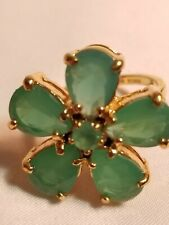Kate Spade New York gold Tone Green Flower Cocktail Ring