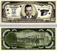 John Dillinger - Gangster Series Hundred Thousand Dollar Novelty Money