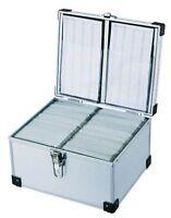 300 DJ Aluminium CD DVD Blu Ray Disc Storage Flight Carry Case Box Silver