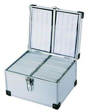 300 DJ Aluminium CD DVD Blu Ray Disc Storage Flight Carry Case Box Silver