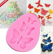 3 Butterfly Silicone Icing Mold Baking Cake Topping Sugar craft Fondant Birthday