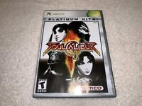 Soul Calibur II (Microsoft Xbox, 2003) Platinum Hits Complete Nr Mint