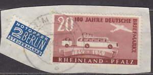 FRANCE ZONE - RHEINLAND PFALZ GERMANY 1949 Mi.: 50 - Briefstück