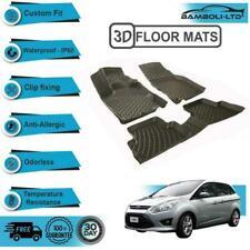 3D Floor Mats Liner Interior Protector Fit Ford C-Max 2010>UP (Black)