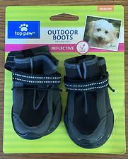 TOP PAW OUTDOOR BOOTS REFLECTIVE SIZE MEDIUM 1 SET 4 BOOTIES Rubber Bottoms NWT