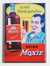Moxie Thirst Quencher FRIDGE MAGNET (2 x 3 inches) soda sign bottle label drink