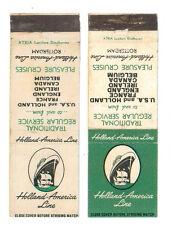 HOLLAND AMERICA LINE 2 MATCHBOX LABEL ANNI '50 MARINA