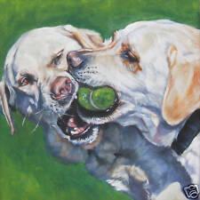 Labrador Retriever dog art portrait PRINT of LA Shepard painting 8x8 yellow lab
