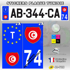 Stickers Plaque D'immatriculation Logo TUNISIE - 4 pièces - Type 1