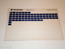 Microfiche Catalogo Ricambi Suzuki RM 85 Stand 2010
