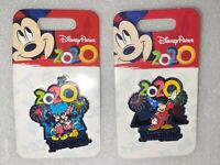 NIP Lot Of 2 Disney Parks 2020 Commemorative Pins Mickey Minnie/Sorcerer Mickey