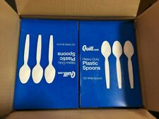 C0013HD HEAVY DUTY BLACK PLASTIC DESSERT SPOONS x 1000