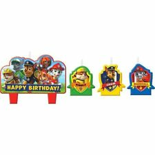 Paw Patrol 4 pc Candle Set Cake Topper Party Supplies