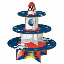 3 Tier Cardboard Rocket Party Cake Stand