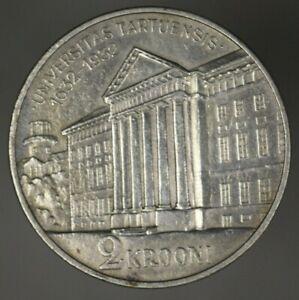 Estonia 1932 2 Krooni AU XF UNC Old Clean  A2697