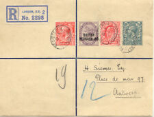 2468 1914 RARE MIXED POSTAGE on R-front GB / BECHUANALAND - THREE REIGNS POSTAGE