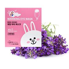 MEDIHEAL X LINE FRIENDS Warming Eye Mask 20g 10PCS Lavender collagen,Antiwrinkle