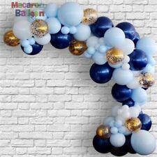 Navy Blue Balloons Confetti Garland Baby Shower Birthday Arch Decor