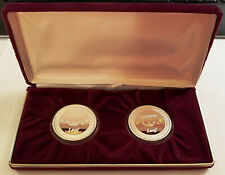 THE JEWEL TEA COMPANY ~ 95TH ANNIVERSARY SET SILVER & GOLD RELIEF ROUNDS & CASE