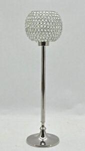 Large Single Candelabra Polished Silver Nickel Height 74cm Wedding Dinning Room