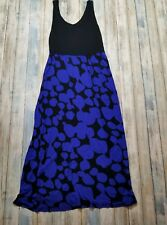 0403943c0 Kensie Maxi Dress - Sleeveless - Black Blue - Women's Size S P