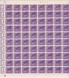 """Arbeiter Mi.Nr. 944 im Bogen """"Walze""""  mit DZ 1 negativ, Feld 1"""