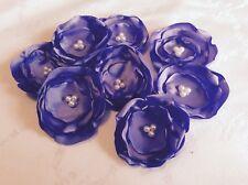 1 LAVENDER SATIN FABRIC FLOWERS - 4 petal  7cm embellishment wedding flowers