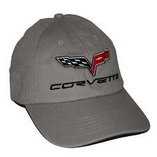2005 - 2013 Chevrolet Corvette C6 Cotton Twill Grey Hat Cap   SHIP IN A BOX
