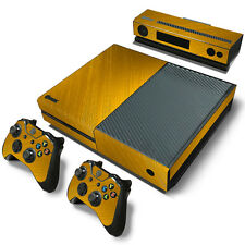 XBOX ONE skin  & Controllers Skin Vinyl Sticker Gold Color Pattern
