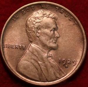 1929-D Denver Mint Copper Lincoln Wheat Cent