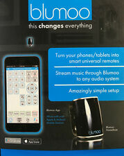 New Blumoo Universal Remote & 150' Bluetooth Audio Streaming Hub for iOS/Android