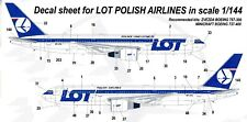 Boeing 767 & Tu-154 Lot Polish Airlines Gio Decals 1/144