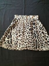 Above Knee Animal Print Machine Washable Mini Skirts for Women