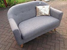 Sofa small sofa 2 seater,unwanted gift ,from made.com colour ash grey.