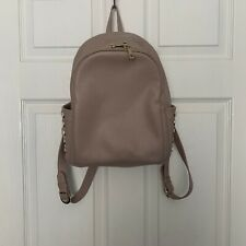 Blush Cream Leather Studded Backpack