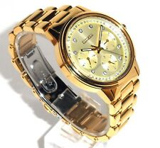 CITIZEN WOMEN'S $395 ECO-DRIVE DAZZLING CRYSTALS GOLD WATCH, DAY-DATE FD2042-51P