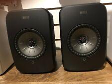 KEF LSX Wireless Bookshelf Speakers, Pair, Black colour, Store Display