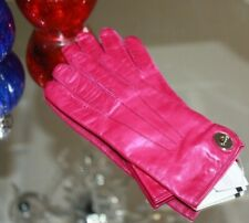 Coach Leather Turn lock glove Fuchsia  Women's size 8