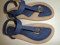 Women's Sandal Blue Color Size 9