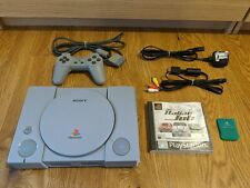 Playstation 1 PS1 PSX Console + Gamepad + Memory Card + AV Power Cable + Game
