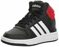 adidas Kids' Hoops Mid 2.0 Basketball Shoe, Black/White/Red, Size  uAof