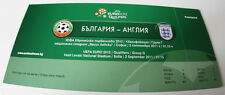 VIP Ticket for collectors EURO 2012 q * Bulgaria - England 2011 in Sofia