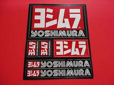"YOSHIMURA STICKER SHEET DECAL. 4.25"" X 5.25"" GENUINE FAST SHIPPING, USA SELLER!"